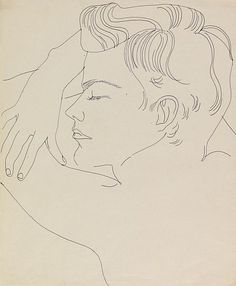 Resting Boy 1955 - 1957 by Andy Warhol (American 1928-1987) ♣️Fosterginger.Pinterest.ComMore Pins Like This One At FOSTERGINGER @ PINTEREST No Pin Limitsでこのようなピンがいっぱいになるピンの限界