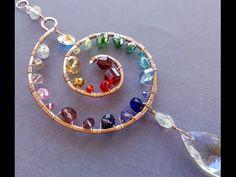 (1) Wire Wrapping Tutorial - Rainbow Spiral Suncatcher - YouTube