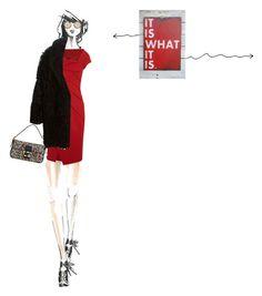 """it's all"" by a-82 ❤ liked on Polyvore featuring moda, Donna Karan, Miu Miu, Fendi e Yves Salomon"