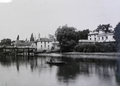 East side of Fulham Bridge next to Willow Bank (c1878)