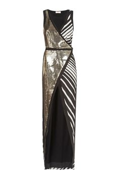 Great concept--wrap around dress with different patterns for each side
