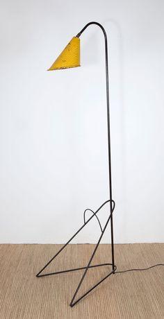 Anonymous; Enameled Metal Floor Lamp c1955.