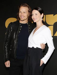 Sam Heughan and Caitriona Balfe attend the STARZ Pre-Golden Globe Celebration at Chateau Marmont | January 8, 2016