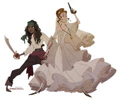 """rhymewithrachel: """"who else is praying to the gods for a potc spin-off about anamaria and elizabeth swann 🙏 """" Character Creation, Character Concept, Concept Art, Lesbian Art, Wow Art, Character Drawing, Character Design Inspiration, Cute Drawings, Drawing Faces"""