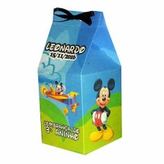 Kit C/ 20 Caixinhas Surpresa Mickey Personalizada