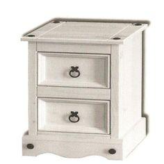 Premium Corona White Pine Bedroom Furniture Petite Bedside Table