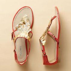 coral mermaid sandals