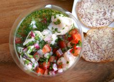 Snapper Ceviche with Chiles and Herbs