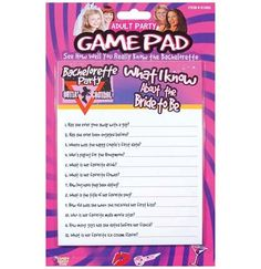 What I Know about the Bride Game Pad
