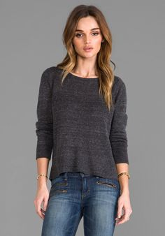 AMERICAN VINTAGE Tinsel Town Top in Carbon - New