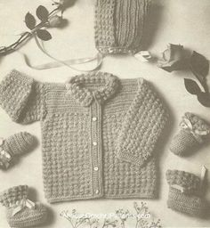 Crocheted Baby Set