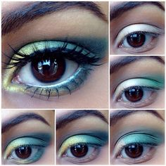 Yellow and light blue simple #makeup #tutorial #evatornadoblog #mycollection
