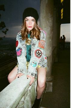 jacket - patches 90's