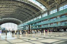 Inside the terminal building of Izmir Adnan menderes International Airport