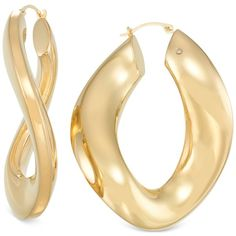 Signature Gold Diamond Cut Small Hoop Earrings in 14k Gold over