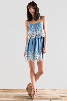 Makenna Embroidered Dress - lite-clmodel