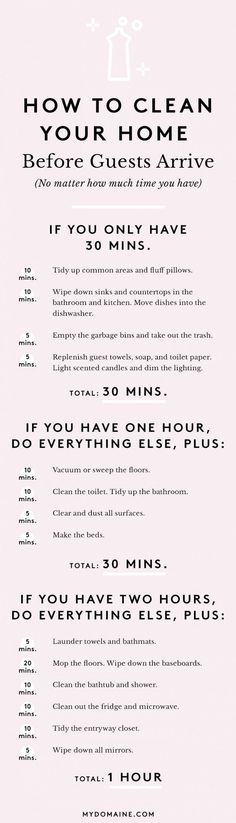 "Have you ever gotten the ""I'll be at your place in 30 minutes"" text when meanwhile your home is in a state of disarray? This is how to clean real quick."