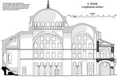 Millingen H Eirene section.The church of Hagia Irene in Istanbul is a superb sample of the early Byzantine architecture Byzantine Architecture, Religious Architecture, Church Architecture, Architecture Design, Hagia Irene, Arte Latina, History Encyclopedia, Early Middle Ages, Byzantine Art