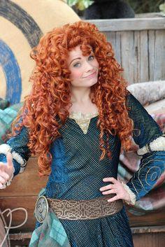 Merida from Brave Disney Dream, Disney Love, Disney Magic, Merida Disney, Brave Merida, Disneyland Face Characters, Disney Characters, Disney Cosplay, Disney Costumes