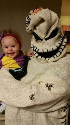 coolest oogie boogie costume and baby sally doll 1