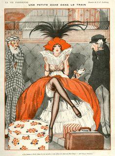 La Vie Parisienne. Art by Julien Jacques Leclerc, 1920