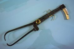 """19.c.Antique Wrought Iron & Brass Calliper Divider Compass, 18"""""""