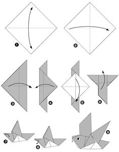 Diagramme origami pigeon : easy
