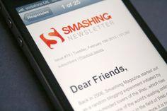 Smashing Magazine's newsletter Responsive Email, Responsive Web Design, Making Life Easier, Email Newsletters, Email Design, Effort, Reading, Reading Books, Email Newsletter Design