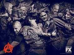 Sons of Anarchy. SOA. SOAFX. SAMCRO. Sons of Anarchy Motorcycle Club Redwood Original. Brotherhood. Loyalty. Family. Respect. Outlaws. Anarchism. Teller Morrow. Jay Teller. Kurt Sutter. Charlie Hunnam. Katey Sagal. Mark Boone Junior. Kim Coates. Ryan Hurst. Ron Perlman. Tommy Flanagan. Theo Rossi.
