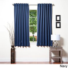 aurora home solid insulated thermal 63inch blackout curtain panel pair by aurora home