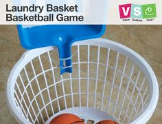 If rainy days are keeping the kids indoors, create this DIY laundry basket basketball game using $1 Dollar Tree supplies. Join Value Seekers Club® for fresh new ideas every month!