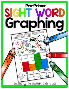 Sight Word Graphing!  The use of different fonts allows students to read and recognize words in a variety of printed and published styles.  Makes learning sight words FUN!