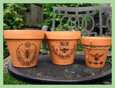 Decorating a Terra Cotta Pot With Woodworking Transfer Tool & Laser Jet Prints