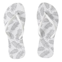 Tropical Nature Leaves Pattern  Flip Flops - floral style flower flowers stylish diy personalize