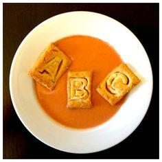 ABC-Suppe mit Käse-Kräcker Das Abc, Chevrolet Logo, Labyrinth, Cracker, Alphabet, Blog, Letters, Homemade, School