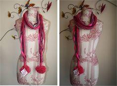 bufanda pompom lana Lana, Fashion, Originals, Seasons, Accessories, Moda, Fashion Styles, Fashion Illustrations