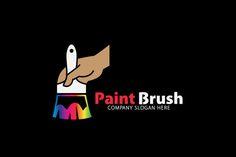 Paint Brush Logo @creativework247