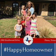 """""""Thank you so much for all your hardwork in helping us buy our first home! So grateful for your time and flexibility. We have truly enjoyed getting to know you. Thank you for helping with the kids and engaging them in all the house activities. You were a blessing and thank you so much. Come over for dinner.""""-Lindsey and Brad B. #firsttimehomebuyer #dallasrealestate #happyhomeowner #kwdallas #plano"""