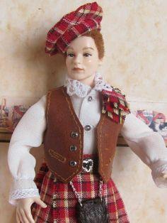 OOAK Heidi Ott dressed doll miniature 1:12