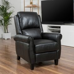 Found it at Wayfair - Deerfiled PU Leather Recliner Club Chair