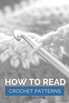 How to Read Crochet Patterns