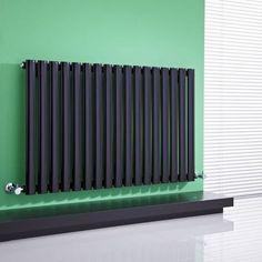 Make a statement with the Milano Aruba gloss black designer radiator