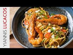 Γαριδομακαρονάδα | Yiannis Lucacos - YouTube Greek Recipes, Fish Recipes, Pasta Recipes, Penne, Tasty, Yummy Food, Scallops, Fish And Seafood, Pasta Dishes