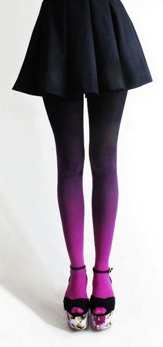 Purple ombre tights