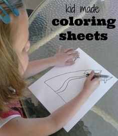 Kid made coloring sheets. Perfect activity for those hot summer days when you're stuck inside!