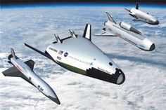 1/144 scale Lockheed-martin X-33, Orbital Sciences X-34, X-42, Boeing X-37, X-40A - Reusable launch vehicle (RLV) set