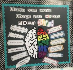 Great bulletin for encouraging the Growth Mindset!