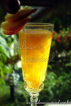 Receita de Drink de Pêssego e Cidra sem Álcool