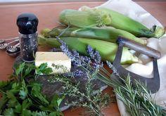 Lavender Roasted Corn On the Cob Culinary Lavender, Lavender Buds, Corn On Cob, Roasted Corn, Herb Butter, Food Words, Sweet Corn, Drying Herbs, Fresh Herbs