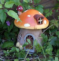 Magical led mushroom light #secret fairy garden #cottage-house ornament #faerie ,  View more on the LINK: http://www.zeppy.io/product/gb/2/121923641162/